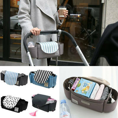 Baby Pushchair Storage Organiser Bottle Holder Buggy Pram Stroller Mummy Bag Cup