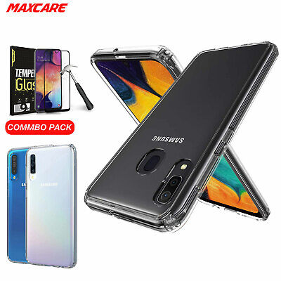 Samsung Galaxy A20 A30 A50 Case Cover, Shockproof Crystal Clear Anti-falling