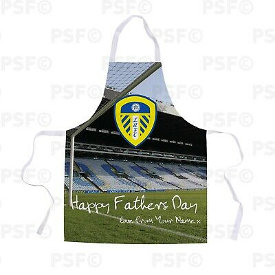 Leeds United FC Official Personalised Fathers Day Stadium Together Apron LA016