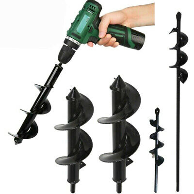 Power Garden Auger Small Big Dig Earth Planter Spiral Drill Bit Post Hole Digger