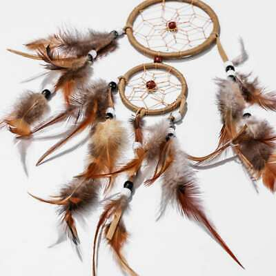 Dream Catchers Brown Handmade Feather Native American Dreamcatcher Circular Net