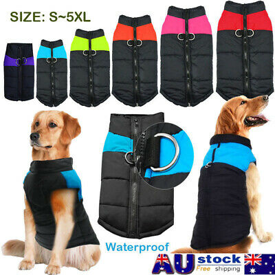 Large Dog Jacket Padded Pet Clothes Warm Windbreaker Vest Coat Winter Waterproof
