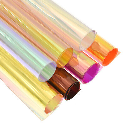 A4 Iridescent Holographic Fabric Transparent PVC  Mirror Film DIY Bag Material
