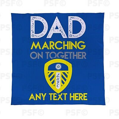 Leeds United FC Official Personalised Father's Day Dad MOT Fleece Blanket LFB016