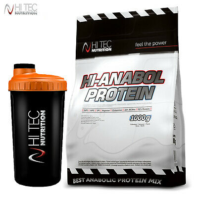HI ANABOL WHEY PROTEIN 1000g - Anabolic Muscle Builder & Recovery + FREE SHAKER