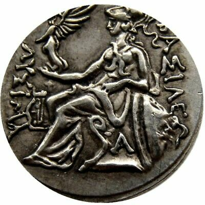 Rare Ancient Alexander III The Great Greek Coin 336-323 BC Silver Plated Drachm