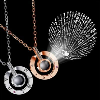 I LOVE YOU in 100 Languages Pendant Trendy Necklace  Gift For Memory Love AU