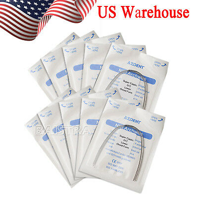 US Dental Orthodontic Super Elastic Round Ovoid Form Niti Arch Wire 012Lower