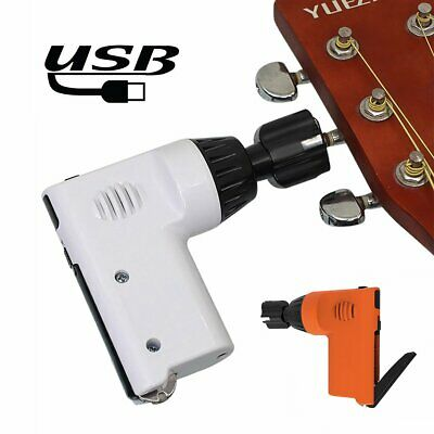 USB Rechargeable Guitar Ukulele Pegs Electric Winder Strings Cutter Luthier Tool