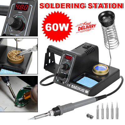 Electric 220V 60W LED Display Soldering Iron Rework Station Variable Temperature