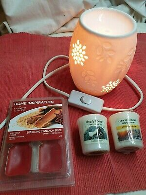 Electric wax  melt warmer bundle with Yankee candles/ melts/