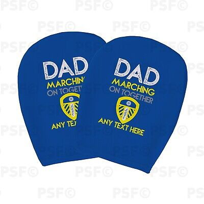 Leeds United FC Official Custom Father's Day Dad MOT Car Head Rest Cover LHR015