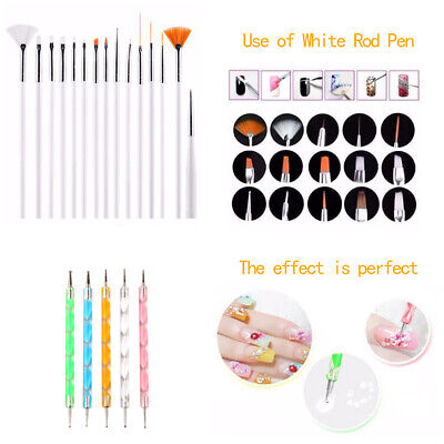 DIY Nail Art Painting Drawing Design Polish Brushes Dotting Pen Tool Set Kit New