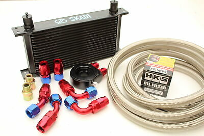 Performance Oil Cooler Kit + HKS Filter for Mazda MX5, 1.6 or 1.8, Mk1 or Mk2