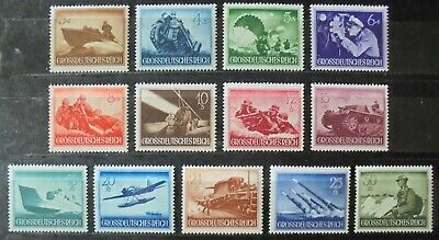 GERMAN REICH 1944 Armed Forces & Heroes Day Complete Set of 13 MNH