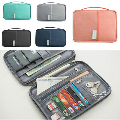 Travel Wallet Family Passport Holder Accessories Document Organizer Bag Case New