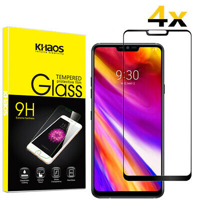 4X KS For LG Q9/LG G7 Thinq/LG G7 One Full Cover Tempered Glass Screen Protector