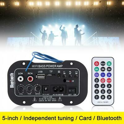 5'' inch HIFI Bluetooth Stereo Audio Power Amplifier AMP SD USB FM Mp3 Car Home