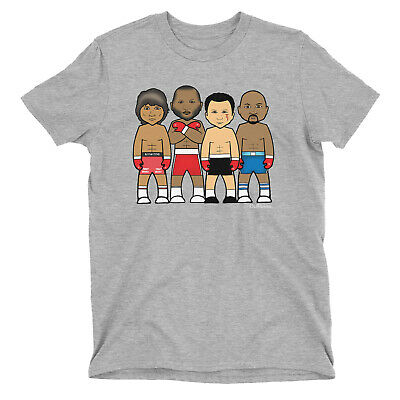 Kids VIPwees T-Shirt Boxing Middleweight Legends Boys Girls Sport Caricature Tee