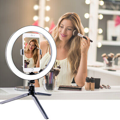 LED Ring Light Studio Photo Video Dimmable Lamp Tripod Stand Selfie Camera Phone