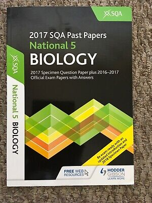2017 National 5 Biology Past Papers Hodder Gibson SQA