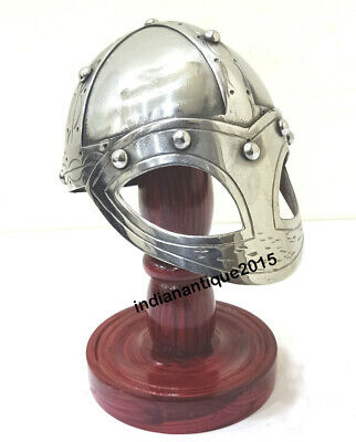 Medieval armour Viking Mask Deluxe Mini Helmet with Wooden Stand