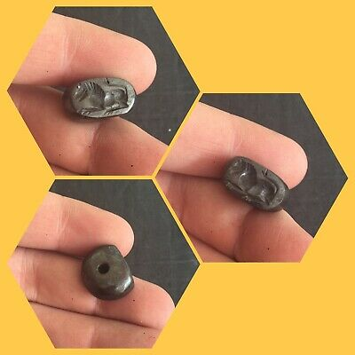 Rare ancient Near Eastern stone seal bead pendant, 300 bc