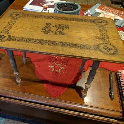 Beautiful vintage/antique Victorian 1912 wooden alphabet child/doll table