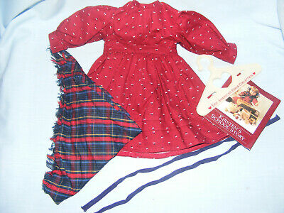 Pleasant Company American Girl Kirsten SCHOOL DRESS with SHAWL and ribbons