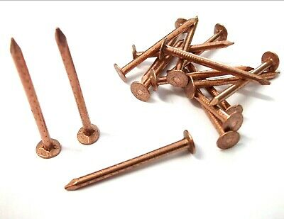 Copper clout nails. 38mm x 2.65mm. Roofing. Slate. Tree stump killer. Shed. Roof