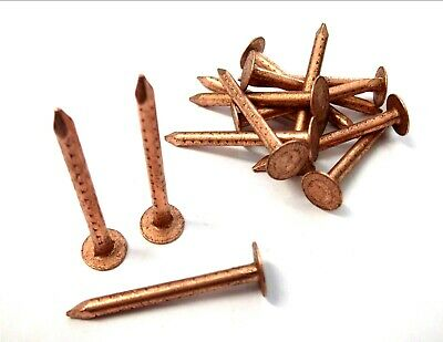 Copper clout nails. 38mm x 3.35mm. Roofing. Slate. Tree stump killer. Shed. Roof