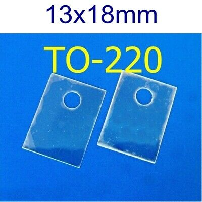 50 Mica Sheets TO-220 13x18mm Insulator Transistor Heat Sink Pad pcs