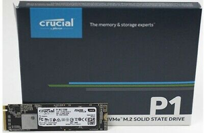 NEW CRUCIAL CT500P1SSD8 SSD M.2: 500GB P1 (2280) NVME PCIE 3D NAND R/W:1900/.f.