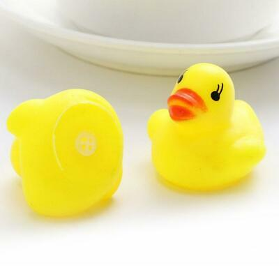 10pcs Baby Bathing Bath Tub Toys Mini Rubber Squeaky Float Duck Yellow Gifts ZH
