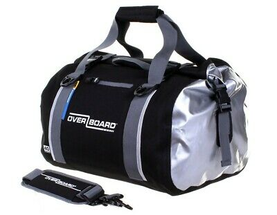 Motorcycle waterproof black duffel bag roll top bag 40 litre ideal for touring