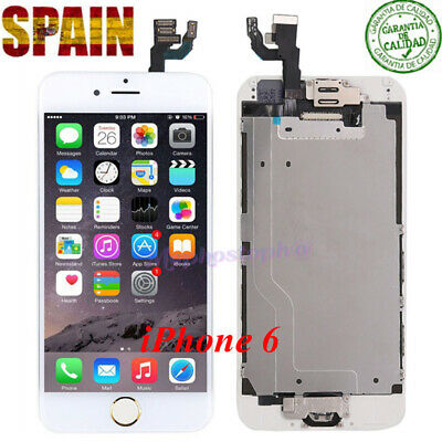 Completo Pantalla LCD iPhone 6 Display Tactil Digitalizador+ BOTÓN ORO Blanco