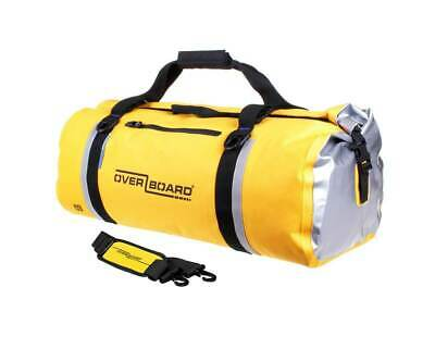 Motorcycle waterproof yellow duffel bag roll top bag 60 litre ideal for touring