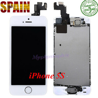 Pantalla Completa Retina LCD iPhone 5S Display Tactil Digitalizador Blanco+BOTÓN