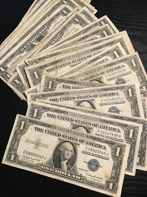 1935-1957 One Dollar Note $1 Silver Certificate FINE-XF Bill Blue US Currency