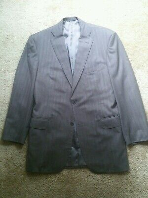 Holland & Sherry Royal Classic Bespoke Brown Wool Blazer 44R