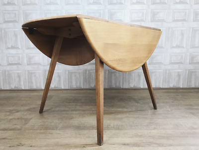 MID CENTURY Ercol Drop Leaf Plank Table - Light Elm & Beech 384 - *£65 DELIVERY*