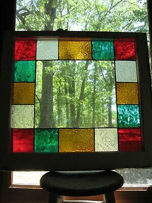 Stained Glass Stain Window Cottage Shabby Chic Farmhouse Victorian Queen Anne