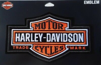 """Harley Davidson Bar And Shield Classic Embroidered Patch  7.1/2"""" x 4.1/3"""""""
