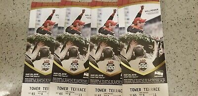 (4) 2019 indianapolis indy 500 tickets