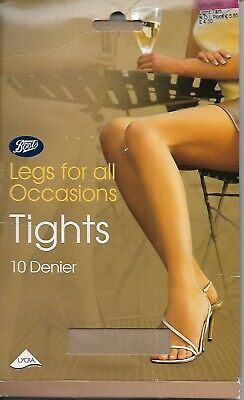 Vintage Boots Light Tan 10 Denier Nylon/Lycra Tights