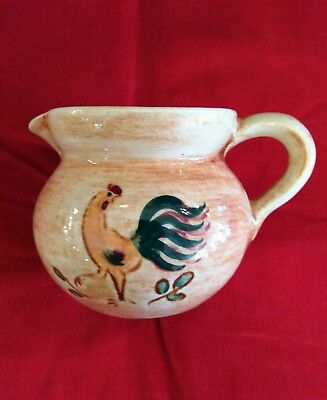 Miniature Pennsbury Pottery Creamer Colorful Rooster Decoration