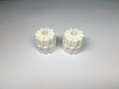WHITE 22mm D. x 24mm Set of  4  Hard Plastic Small  SPACE Wheels LEGO LEGOS