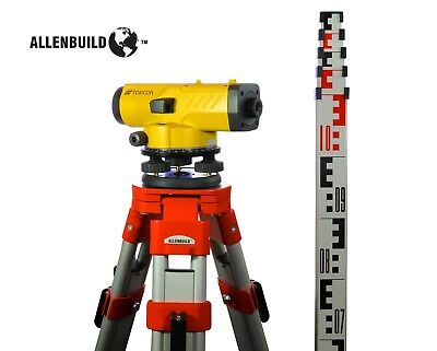 Topcon AT-B4A Automatic 24X Auto Level Surveying Tripod and ROD included USA