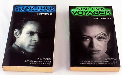 Star Trek Section 31 Paperback Books Deep Space Nine Abyss and Voyager Shadow