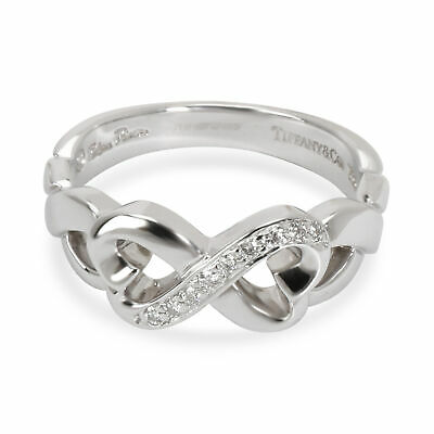 a7477eb65 Tiffany & Co. Loving Heart Infinity Diamond Ring in 18K White Gold 0.05 CTW